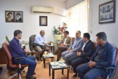 بازدید آقای گل محمدی مدیریت محترم شعب منطقه بانک سپه استان گیلان و هیات همراه