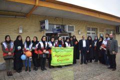 بازدید اعضای کانونهای دانشجویی و طلاب هلال احمر شهرستان رودبار
