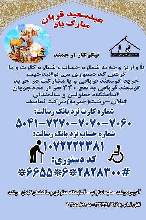 مشارکت در خرید گوسفند جهت قربانی در عید سعید قربان