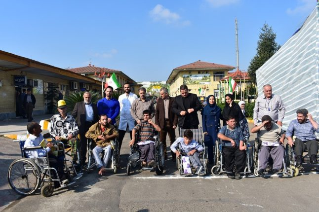 مسابقه ویلچررانی مددجویان آسایشگاه معلولین و سالمندان گیلان-رشت(خیریه)